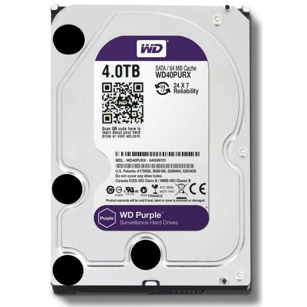 Фото 1 - Western Digital WD40PURZ. Жесткий диск 4 ТБ для систем видеонаблюдения на базе TRASSIR.