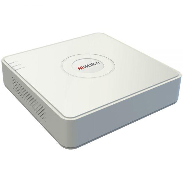 Фото 1 - Гибридный видеорегистратор HiWatch DS-H104G с поддержкой стандартов CVBS, HD-TVI, AHD и 1 IP-камеры.