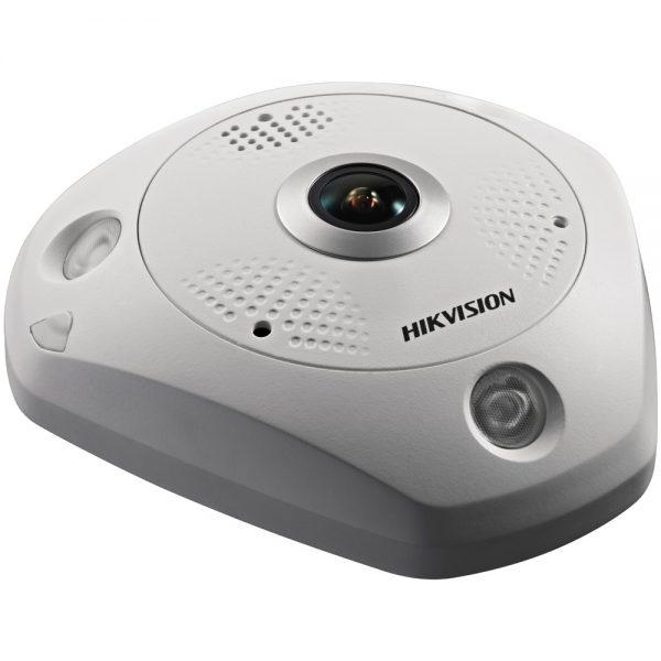 Фото 2 - HikVision DS-2CD63C2F-IVS + ПО TRASSIR в подарок. Уличная 12Мп сетевая FishEye-камера с ИК-подсветкой.