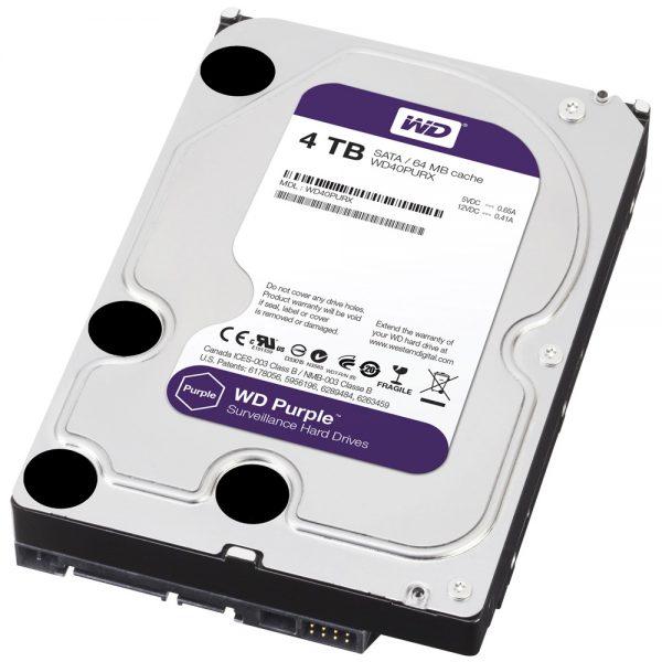 Фото 2 - Western Digital WD40PURZ. Жесткий диск 4 ТБ для систем видеонаблюдения на базе TRASSIR.