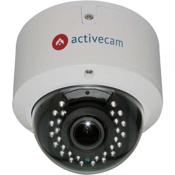 Фото 1 - ActiveCam AC-D3143VIR2 + ПО TRASSIR в подарок. Уличная вандалостойкая купольная 4 Мп IP-камера с вариофокальным объективом.