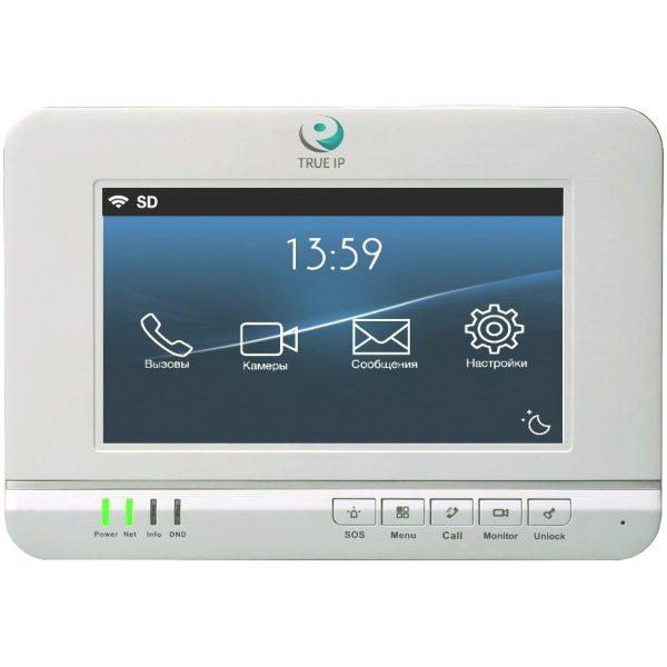 """Фото 2 - TRUE-IP TI-2720W. 7"""" IP-монитор для систем домофонии с встроенной памятью и двусторонней аудиосвязью."""