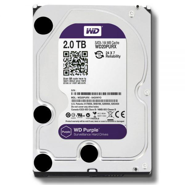 Фото 1 - Western Digital WD20PURZ. Жесткий диск 2 ТБ для систем видеонаблюдения на базе TRASSIR.