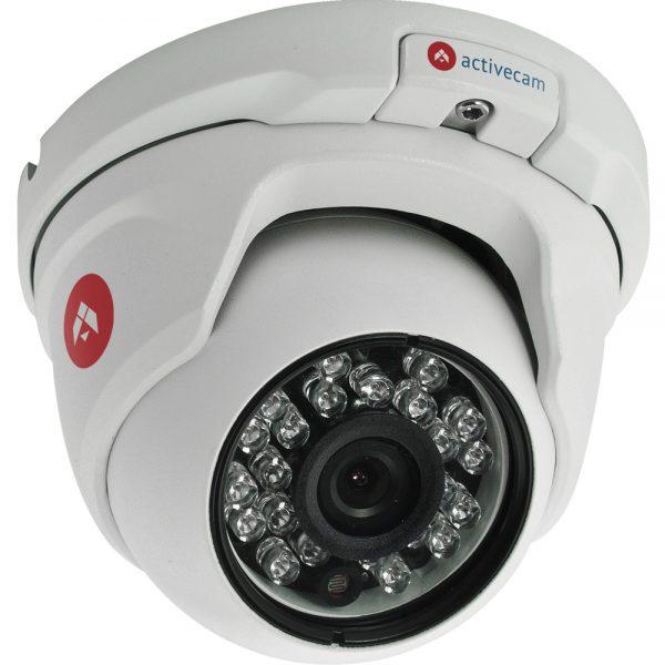 Фото 1 - ActiveCam AC-D8121WDIR2 + ПО TRASSIR в подарок. Уличная вандалозащищенная сетевая камера-сфера с Real WDR 120дБ и ИК-подсветкой.