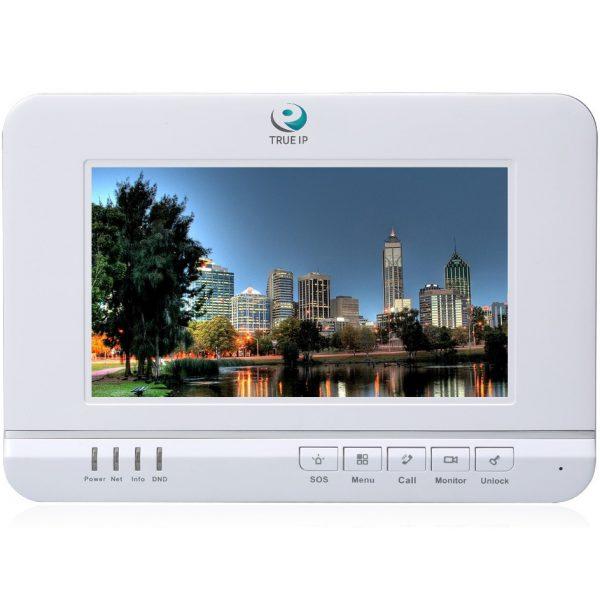 """Фото 1 - TRUE-IP TI-2720W. 7"""" IP-монитор для систем домофонии с встроенной памятью и двусторонней аудиосвязью."""