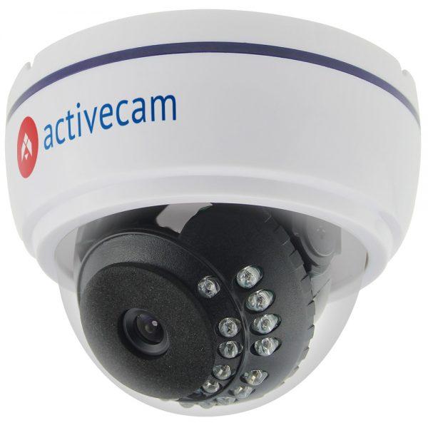 Фото 1 - ActiveCam AC-TA361IR2. Мультистандартная 720p аналоговая миникупольная камера.