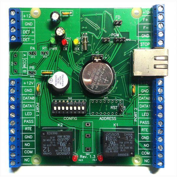 Фото 1 - Сетевой контроллер Sigur E300H, управление гостиничным номером, до 50 ключей, 500 временных зон и 40000 событий.