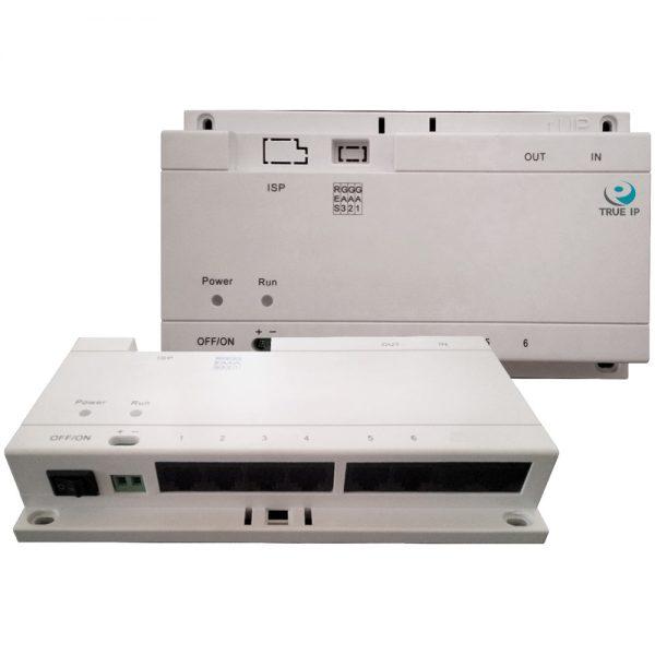 Фото 1 - PoE Swich TI-6SP. Коммутатор для питания до 6-и панелей/мониторов TRUE-IP.