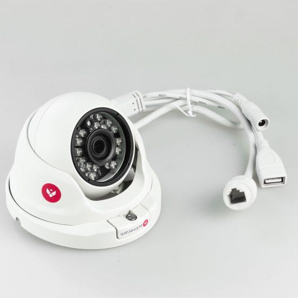 Фото 4 - ActiveCam AC-D8121IR2 + ПО TRASSIR в подарок. Уличная вандалозащищенная сетевая камера-сфера с ИК-подсветкой.