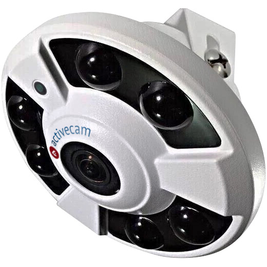 Фото 1 - ActiveCam AC-D9141IR2 + ПО TRASSIR в подарок. Сетевая FishEye-камера 4Мп с WDR 120 дБ, ИК-подсветкой и microSD.