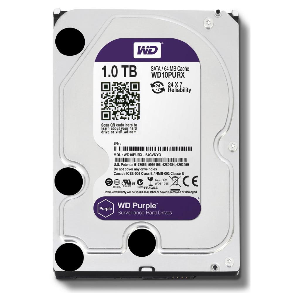Фото 8 - Western Digital WD10PURZ. Жесткий диск 1 ТБ для систем видеонаблюдения на базе TRASSIR.