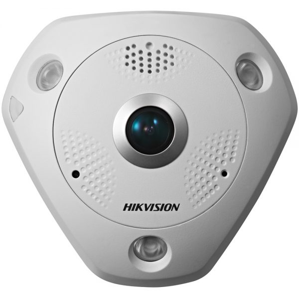 Фото 1 - HikVision DS-2CD63C2F-IS + ПО TRASSIR в подарок. Внутренняя 12Мп сетевая FishEye-камера с ИК-подсветкой.