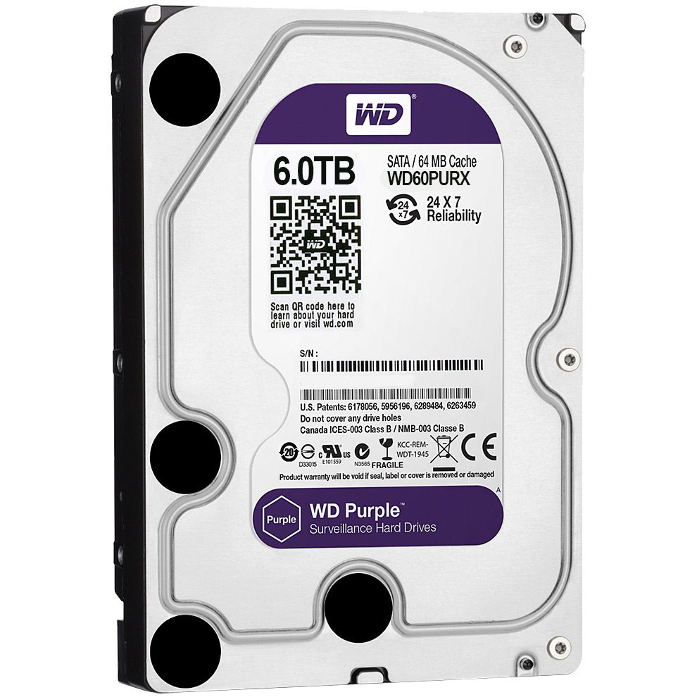 Фото 12 - Western Digital WD60PURZ. Жесткий диск 6 ТБ для систем видеонаблюдения на базе TRASSIR.
