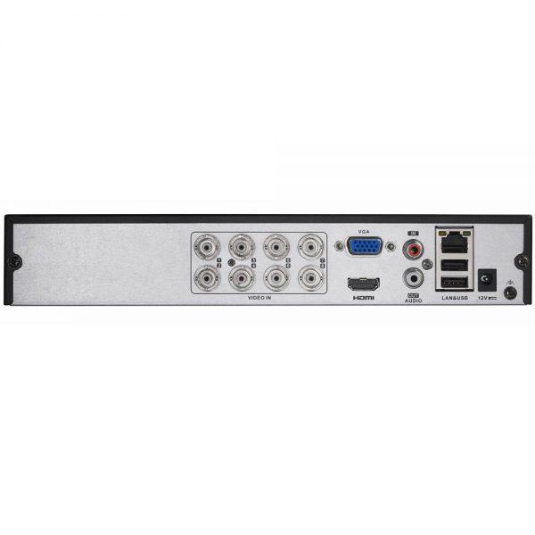 Фото 2 - Гибридный видеорегистратор Hikvision DS-7208HGHI-E2 с подключением до 8 CVBS/HD-TVI и до 2 IP-камер.