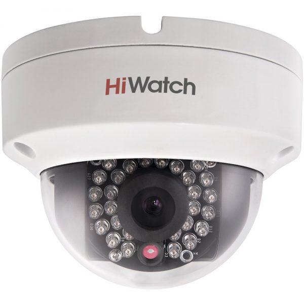 Фото 1 - HiWatch DS-I122. Уличная бюджетная компактная вандалозащищенная купольная IP-камера.
