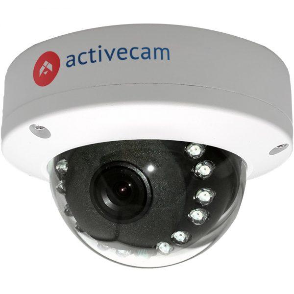 Фото 1 - ActiveCam AC-D3141IR1 + ПО TRASSIR в подарок. Уличная компактная сетевая Dome-камера 4Мп с WDR 120 дБ, ИК-подсветкой и USB.