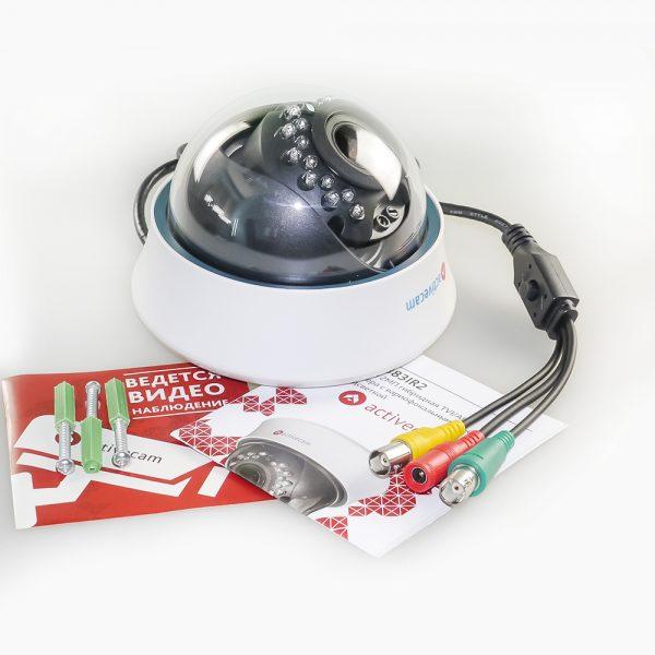 Фото 4 - ActiveCam AC-TA383IR2. FullHD купольная 4-в-1 аналоговая видеокамера.