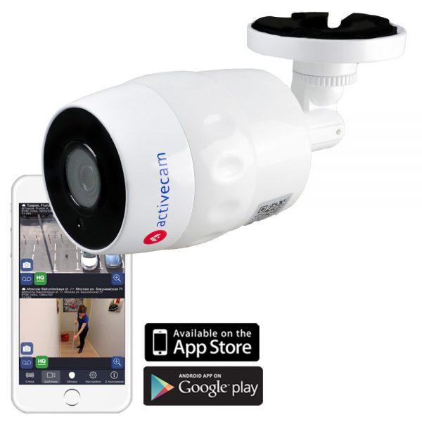 Фото 2 - ActiveCam AC-D2121IR3W. Уличная сетевая камера-цилиндр с Wi-Fi и ИК-подсветкой.