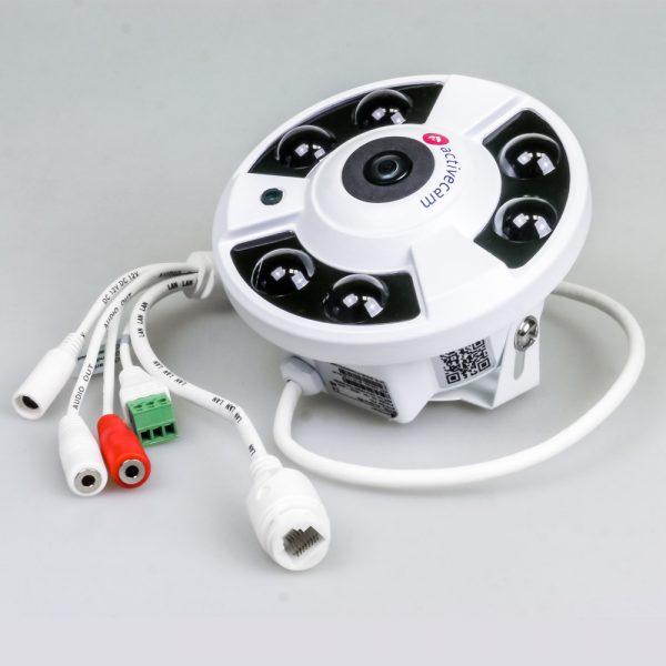 Фото 2 - ActiveCam AC-D9161IR2 + ПО TRASSIR в подарок. Внутренняя IP-камера 6Мп с объективом «рыбий глаз».
