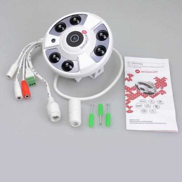 Фото 3 - ActiveCam AC-D9161IR2 + ПО TRASSIR в подарок. Внутренняя IP-камера 6Мп с объективом «рыбий глаз».