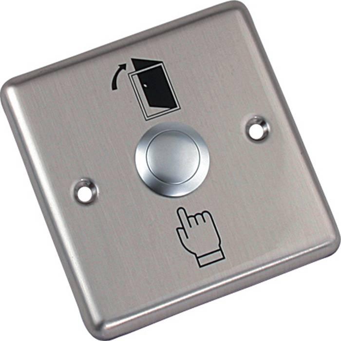 Фото 5 - Кнопка выхода металлическая врезная NO AccordTec AT-H801B.