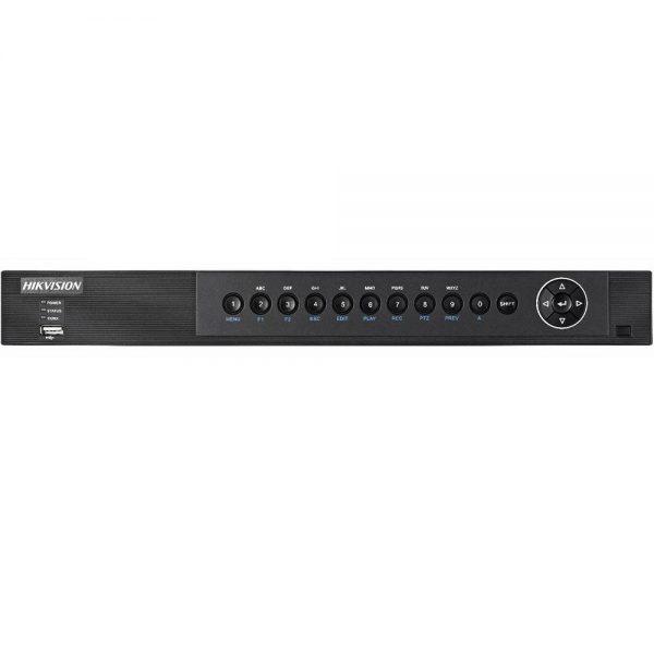 Фото 1 - Гибридный видеорегистратор Hikvision DS-7208HQHI-F1/N с подключением до 8 CVBS/HD-TVI/AHD камер и 2 сетевых.