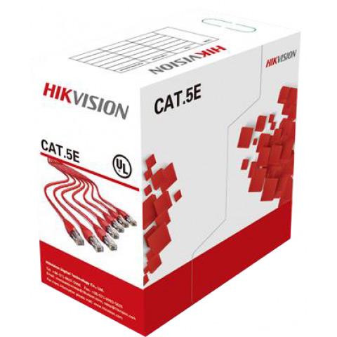 Фото 1 - Hikvision DS-1LN5E-S: кабель UTP CAT5e, 4 пары, бухта 305 м.