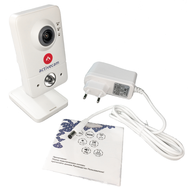 Фото 5 - ActiveCam AC-D7121IR1W. Беспроводная сетевая 2Мп Cube-камера серии Smart Home с ИК-подсветкой, microSD и Real WDR 96дБ.