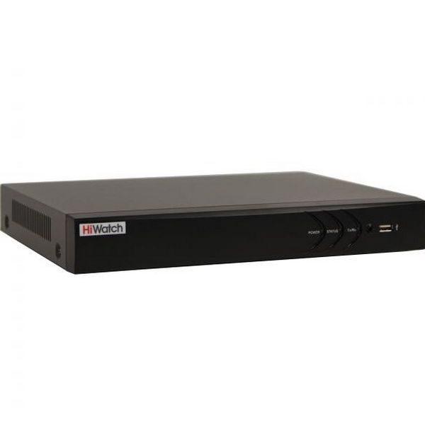 Фото 1 - 8-канальный гибридный видеорегистратор HiWatch DS-H208QP для аналоговых, HD-TVI, AHD, CVI камер с PoC и 2 IP камер.