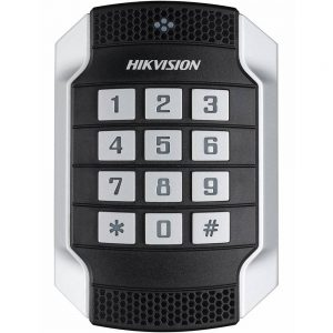 Фото 22 - Уличный считыватель Mifare карт Hikvision DS-K1104MK с клавиатурой.