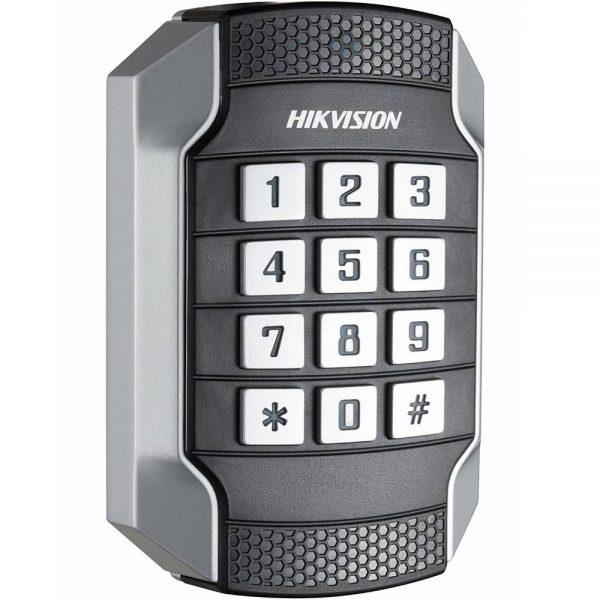 Фото 3 - Уличный считыватель Mifare карт Hikvision DS-K1104MK с клавиатурой.