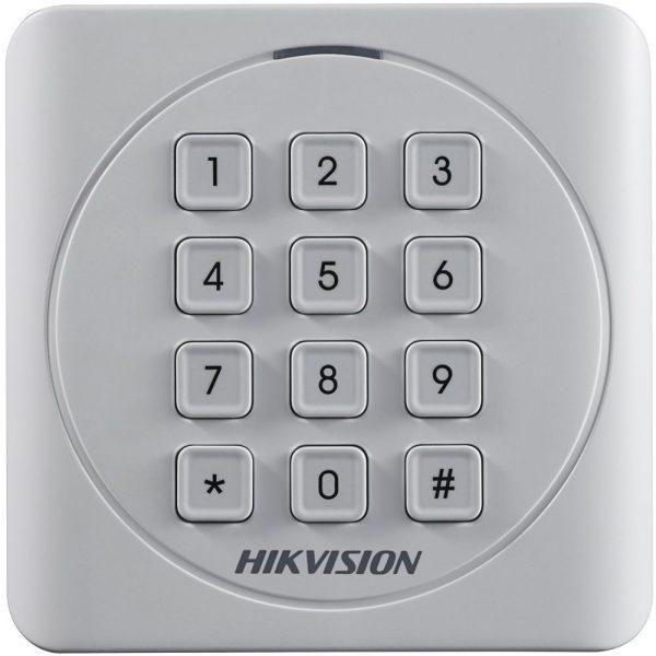 Фото 1 - Считыватель Mifare карт Hikvision DS-K1801MK с механической клавиатурой.