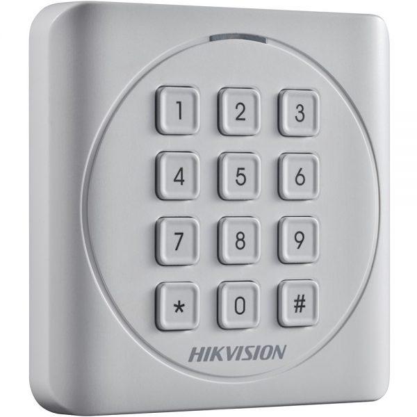 Фото 2 - Считыватель Mifare карт Hikvision DS-K1801MK с механической клавиатурой.