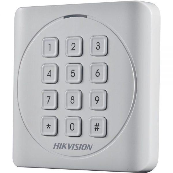 Фото 3 - Считыватель Mifare карт Hikvision DS-K1801MK с механической клавиатурой.