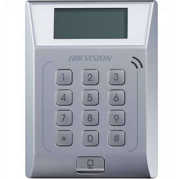 Фото 1 - Терминал контроля доступа Hikvision DS-K1T802M с встроенным считывателем карт Mifare.