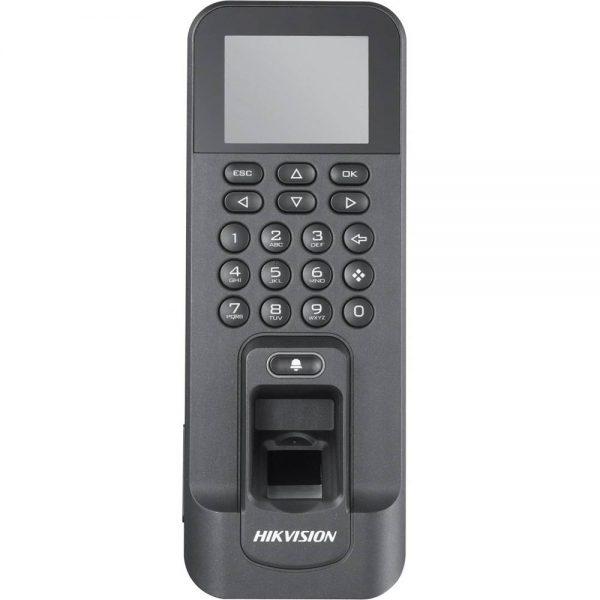 Фото 1 - Терминал контроля доступа Hikvision DS-K1T803MF с 2 считывателями: биометрическим и Mifare.