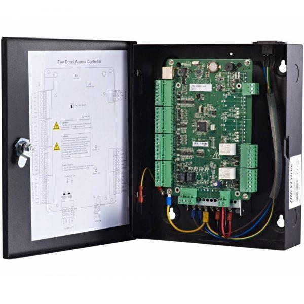 Фото 4 - Сетевой контроллер СКУД Hikvision DS-K2802 для управления 2 дверьми.