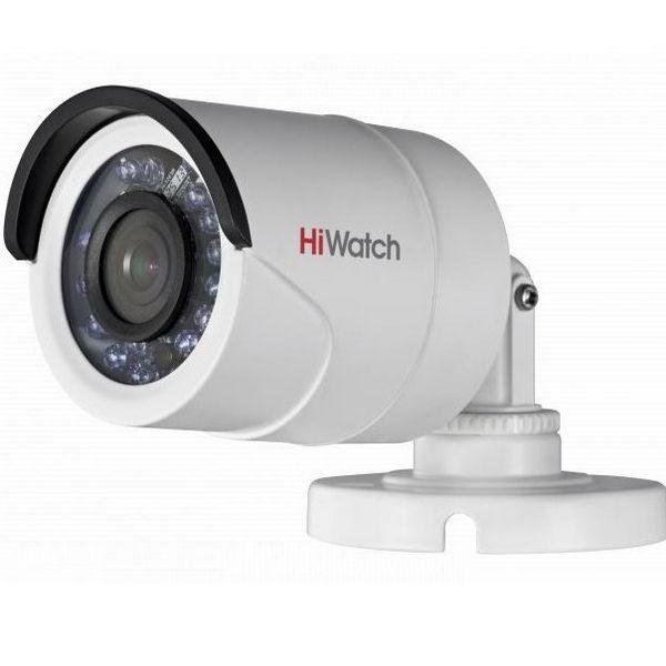 Фото 1 - Уличная миниатюрная HD-TVI камера HiWatch DS-T200P с ИК-подсветкой и питанием по коаксиальному кабелю.