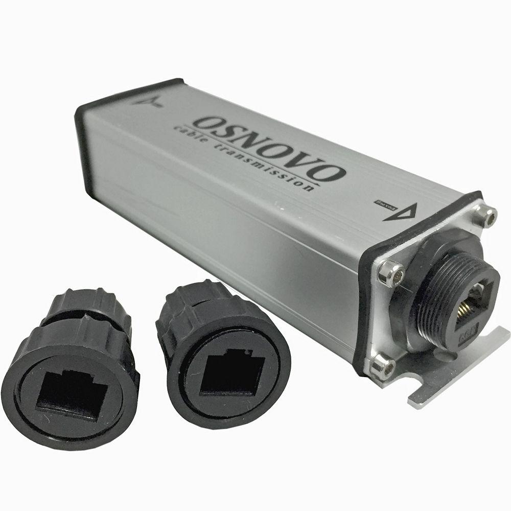 Фото 12 - Уличный PoE удлинитель 10/100/1000M Gigabit Ethernet OSNOVO E-PoE/1GW до 500м + питание на 100м..