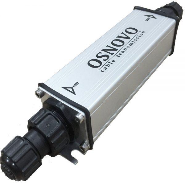 Фото 1 - Уличный PoE удлинитель OSNOVO E-PoE/1W 10M/100M Fast Ethernet до 500 м с питанием до 100 м.