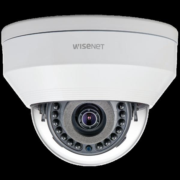 Фото 1 - Уличная вандалостойкая IP-камера Wisenet LNV-6020R, WDR 120 дБ, ИК-подсветка, ПО Trassir в подарок.