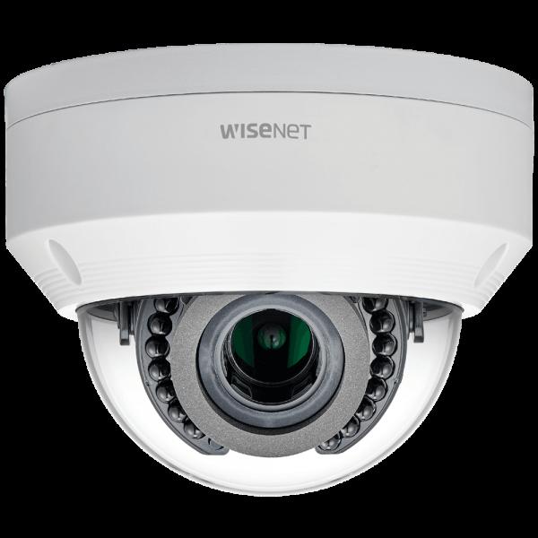 Фото 1 - Уличная вандалостойкая IP-камера Wisenet LNV-6070R, WDR 120 дБ, вариообъектив, ИК-подсветка.