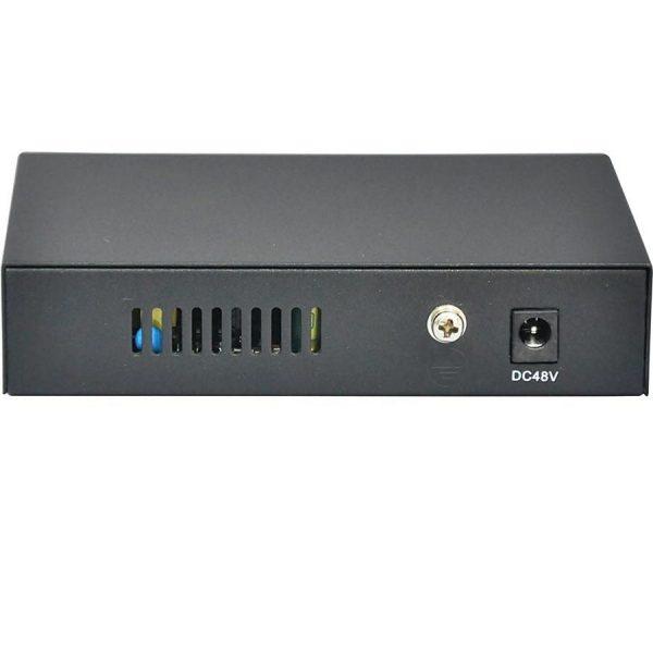 Фото 2 - 4-портовый неуправляемый Fast Ethernet PoE коммутатор OSNOVO SW-20500/B (ver.2).