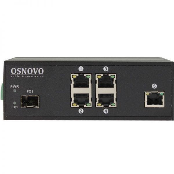 Фото 2 - Промышленный 4-портовый PoE коммутатор OSNOVO SW-40501/IC Fast Ethernet.