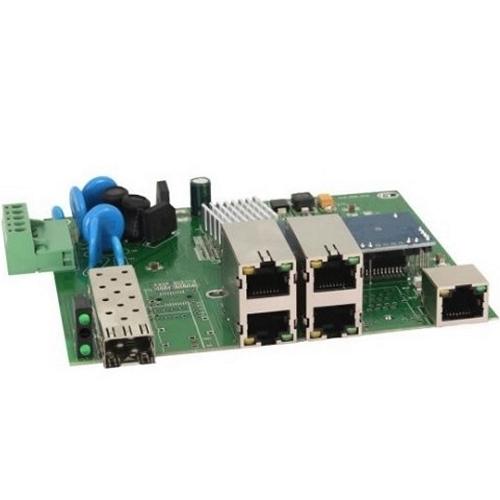 Фото 1 - Промышленный 4-портовый PoE коммутатор OSNOVO SW-40501/IC Fast Ethernet.