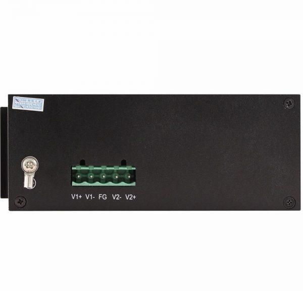 Фото 3 - Промышленный 4-портовый PoE коммутатор OSNOVO SW-40501/IC Fast Ethernet.
