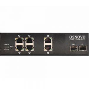 Фото 18 - Промышленный 6-портовый PoE коммутатор OSNOVO SW-8062/IC Gigabit Ethernet.