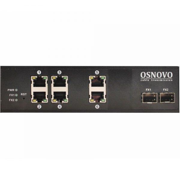 Фото 1 - Промышленный 6-портовый PoE коммутатор OSNOVO SW-8062/IC Gigabit Ethernet.
