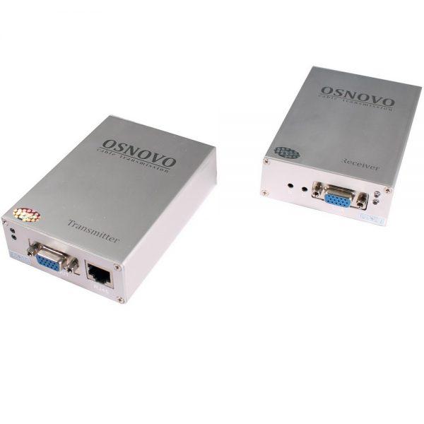Фото 1 - Комплект TA-V/2+RA-V/2: передатчик и приемник для передачи VGA и аудиосигнала по UTP CAT5 до 100 м.
