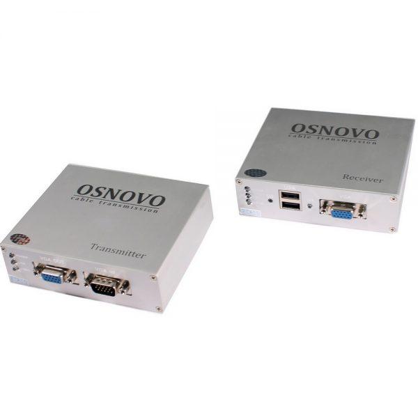 Фото 1 - Комплект TA-VKM/3+RA-VKM/3 для передачи VGA/клавиатура/мышь на расстояние до 100 м.